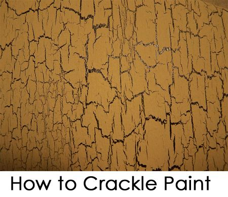 How to Crackle Paint - getting started on this project on Friday!!