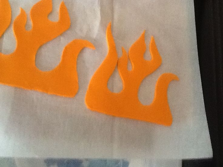 Flames for hot wheel cake