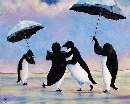 the vettriano penguins by michael orwick wwwmichaelorwick