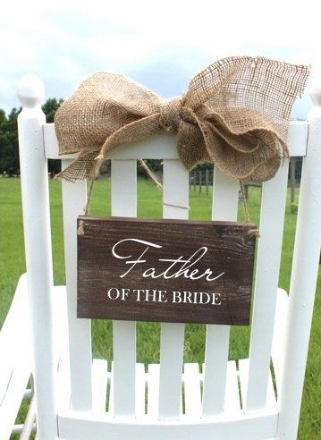Why just have signs for the bride and groom? This is adorable and will make the parents feel even more special on your big day!