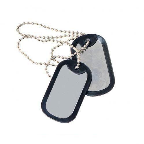 Plaqueta de Identificação Dog Tag - Modelo Diversos Corrente e placas em Aço Inox; Modelo Militar com duas placas a sua escolha;