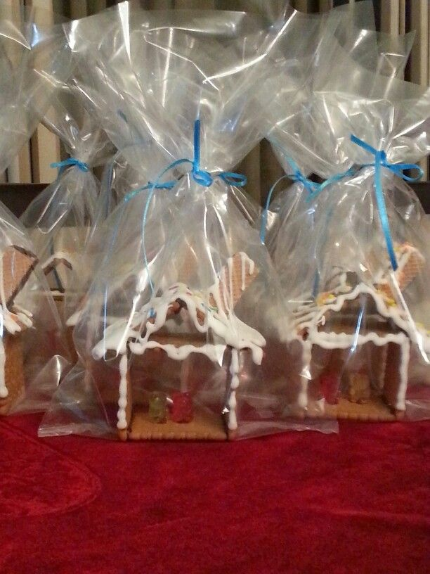 Houses made of snow. Cookies and candies were my son's treat for his friends on his name day last year