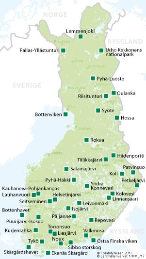 Nationalparker - Utinaturen.fi