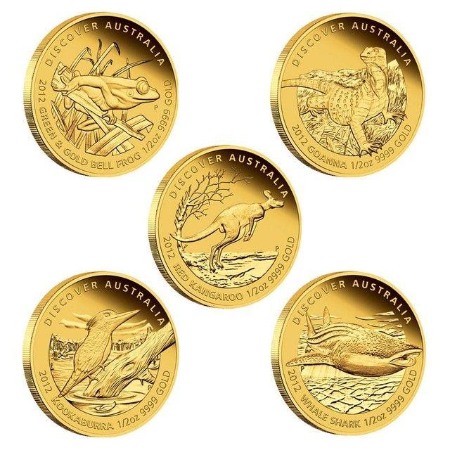 2012 Discover Australia 1/25oz Gold Set 5 1/25 ounce coins