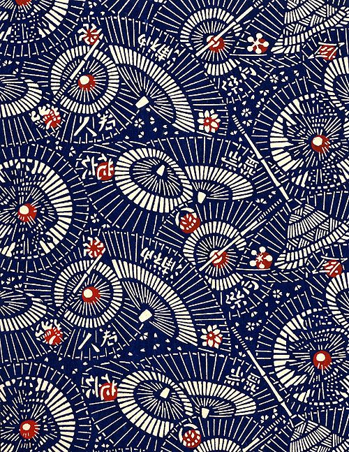Japanese washi paper with kasa design.
