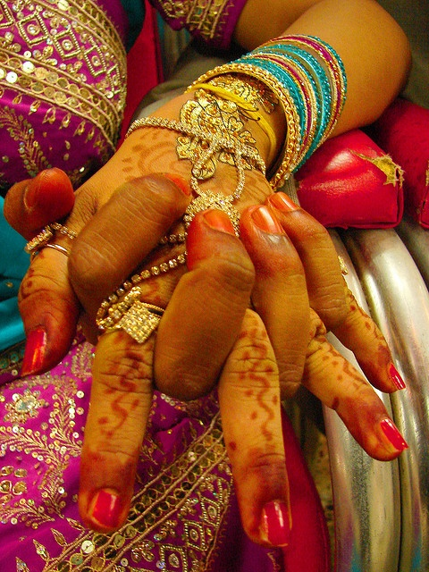 """hands of India- one thing I learned in India they only  put nail polish on one hand. Learned that when the kids laughed at me when I said """"other hand?"""""""