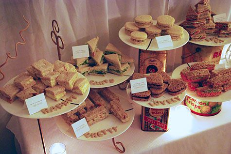 tea party!: Food Display, Teas Parties Food, Teas Parties Sandwiches, Teas Sandwiches, Fingers Food, Bridal Shower Teas, Parties Ideas, Parties Desserts, Fingers Sandwiches