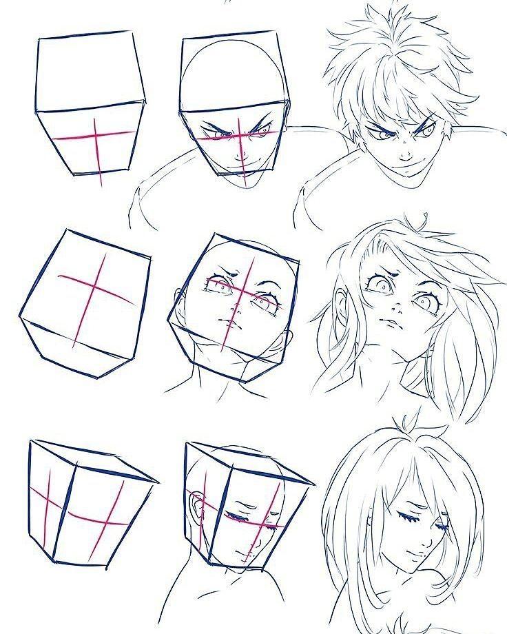 Anime Art Reference Tutorials On Instagram Credits To Wysoka Mh Fa Mh O Draw Dr Manga Drawing Tutorials Drawing Tutorial Manga Tutorial