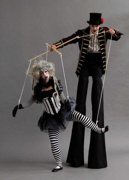 Puppet stilt walkers! #circus #halloween #ideas