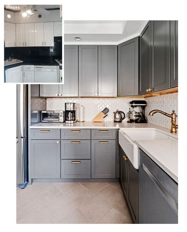 7 Tiny Kitchen Before And After Makeovers Kitchen Redesign Kitchen Remodel Kitchen Design Small