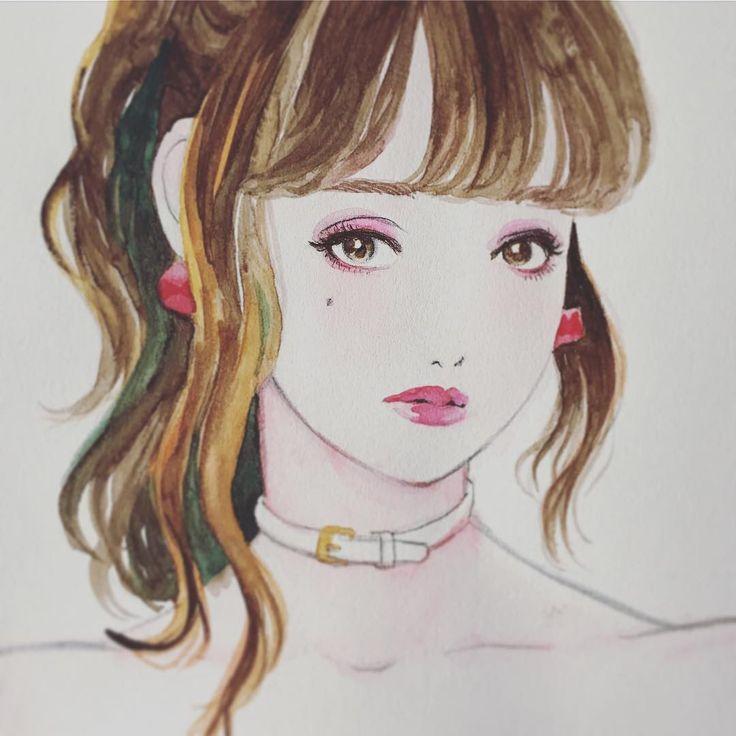 水彩の扱いに慣れたい。 髪の描き方どうしよかな。 #sktech #水彩画 #girl #鉛筆 #可愛い子が描きたい