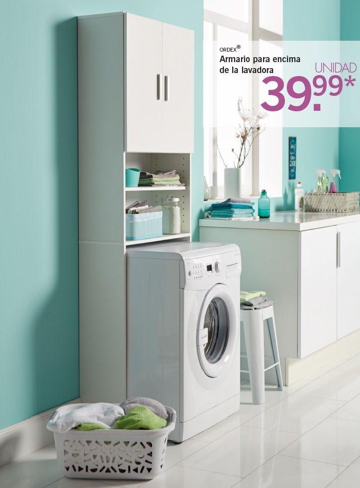 Ordex armario para encima de la lavadora secadora a for Gabinete de almacenamiento de bano barato
