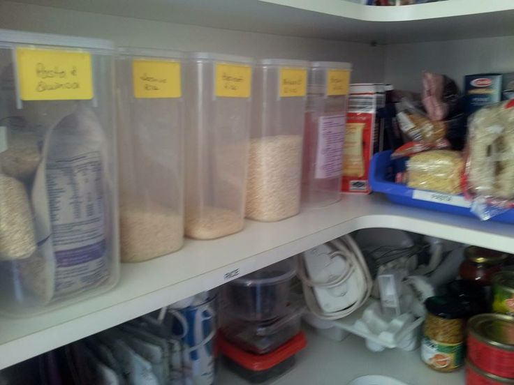 Pasta & Rice together in one section/shelf.