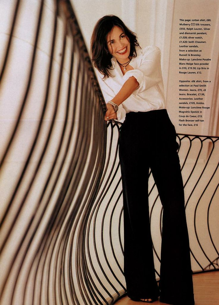 love the cut on these pants! Ines Sastre - Black&White