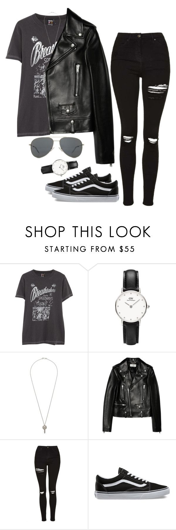 """""""Untitled #23"""" by ijustwanttobe ❤ liked on Polyvore featuring Yves Saint Laurent, Topshop and Vans"""