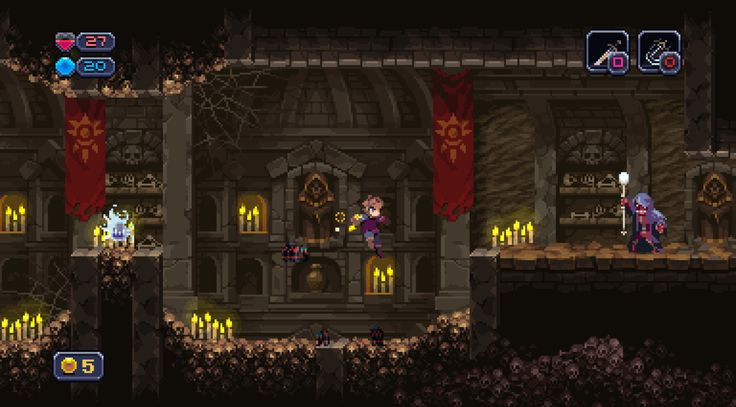 "pixelartus:  Chasm System: PC (Windows, Mac, Linux), PS4 Status: In Development Release: TBA Developer: Discord Website: chasmgame.com / discordgames.tumblr.com Video: Trailer  Description: ""Chasm is a procedurally-generated Platform Adventure currently in development for PC (Win, Mac, & Linux) and Playstation 4. Taking equal inspiration from hack 'n slash dungeon crawlers and Metroidvania-style platformers, it will immerse you in a procedurally-generated fantasy world full of exciting t..."