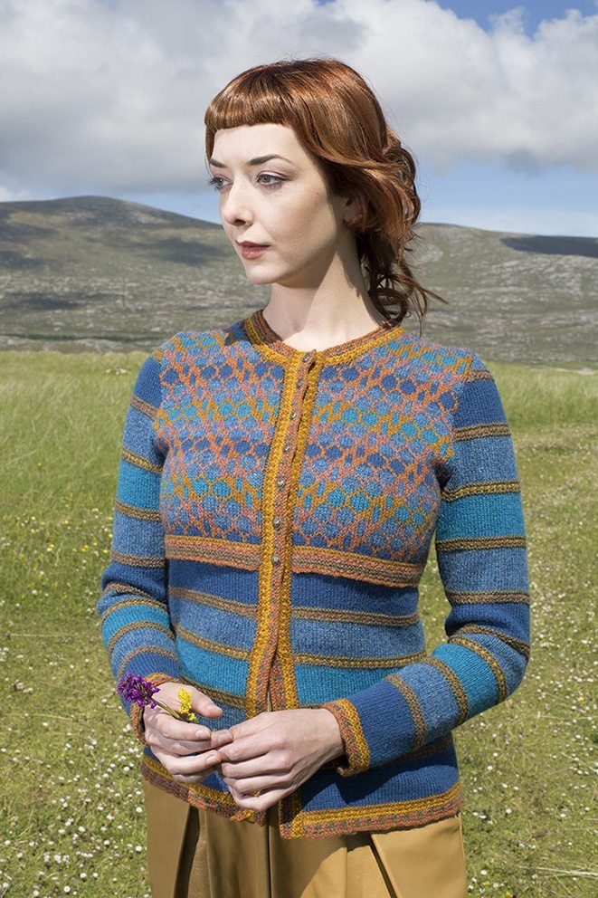 ba6162798 The Damsel Fly hand knitwear design by Alice Starmore from the book ...