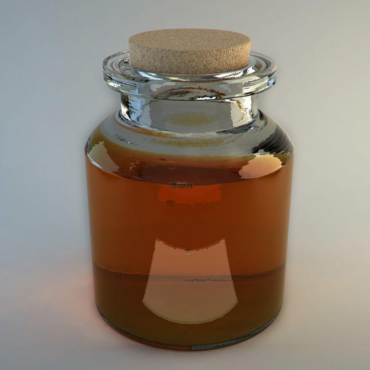 Honey Jar 3D Model Download | fbx obj max ma - 3D Squirrel