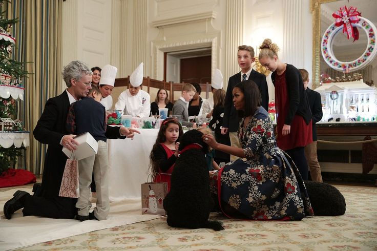 Michelle Obama Brings Sunny and Bo Along For a Holiday Play Date With Children
