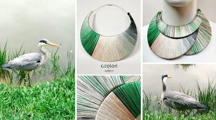Nature inspired yarn wrapped jewellery by Czolori http://czokildihu.bigcartel.com/