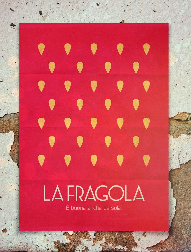 Alberto Marchetti's Ice Cream Flavors Minimal Poster | La Fragola {The Strawberry}