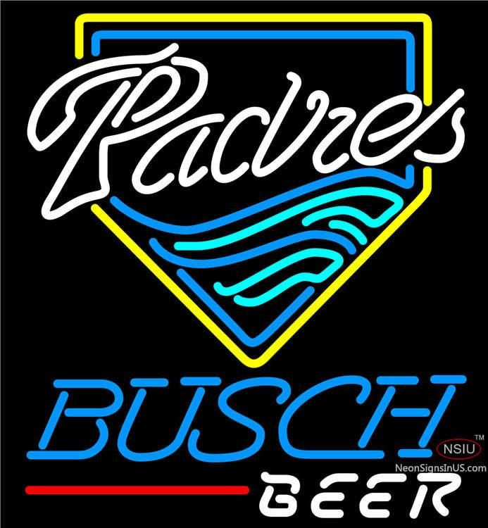 Busch Beer San Diego Padres MLB Real Neon Glass Tube Neon Sign,Affordable and durable,Made in USA,if you want to get it ,please click the visit button or go to my website,you can get everything neon from us. based in CA USA, free shipping and 1 year warranty , 24/7 service