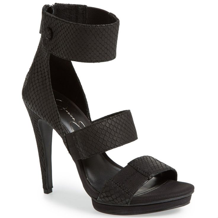Black Wide Ankle Strap Heels | Ankle Strap Heels, Strap Heels and ...