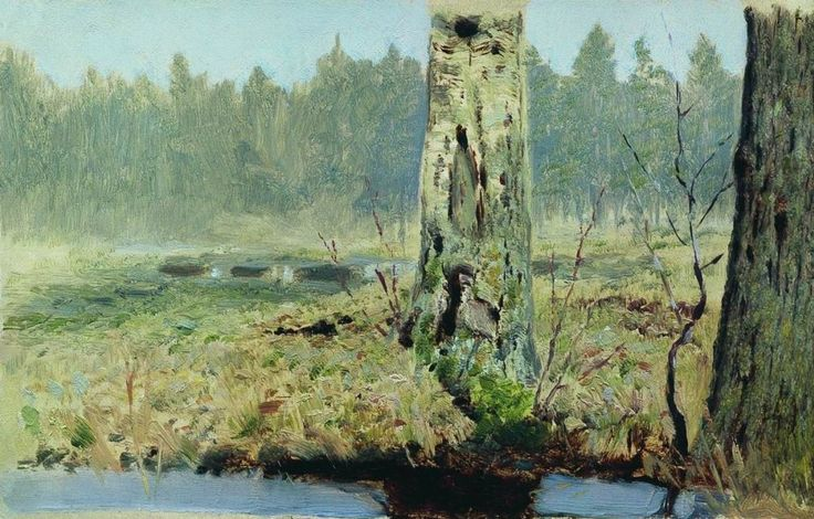 Архип Иванович Куинджи. Стволы деревьев