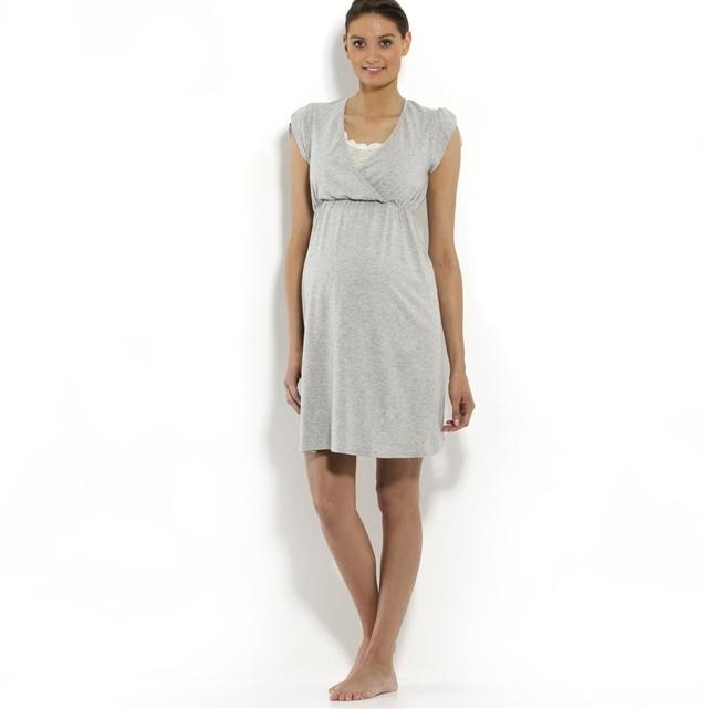 Camicia da notte per la gravidanza e l'allattamento