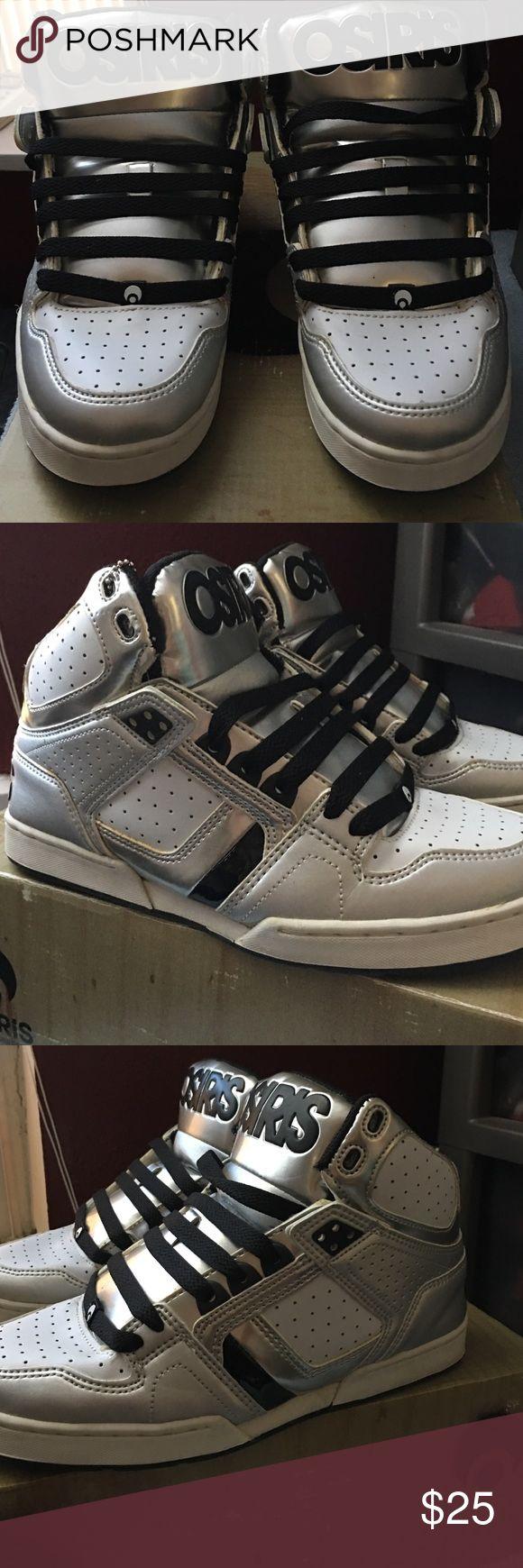 Osiris Bronx Silver/White/Black Osiris Shoes