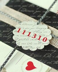 Love Letter-Inspired Wedding Invitations
