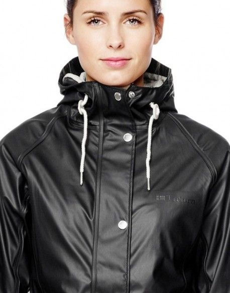 "TRETORN ""Erna"" ladies raincoat w/ cotton lining BLACK"