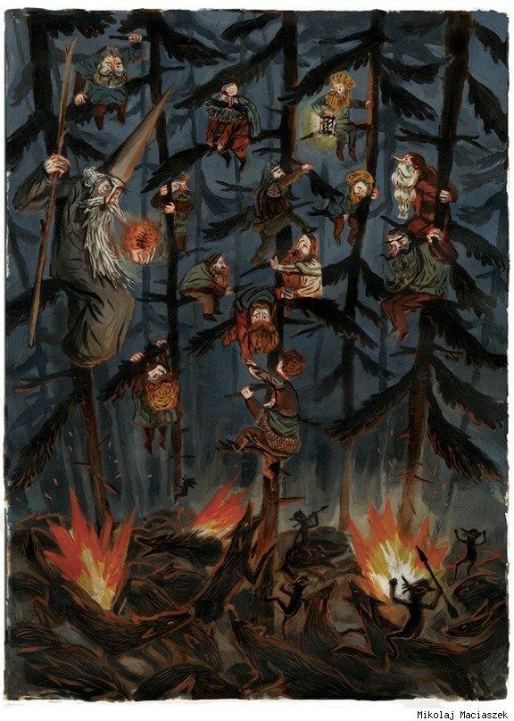 Mikolaj Maciaszek: Frying Pans, Fries Pan, Hobbit Art, Mikolaj Maciaszek, Fire Art, Comic Books, The Hobbit, Illustration, Middle Earth