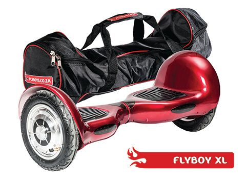 FlyboyXL in Racing Red. Get it in a bag! This model has more GO than the other models. With it's larger, inflatable wheels, it can go where the others can't. Visit www.flyboys.co.za for more specs on this model and more