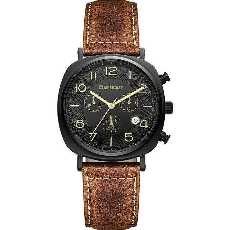 Barbour Mens Chronograph Watch - BB019BKTN from WatchWarehouse