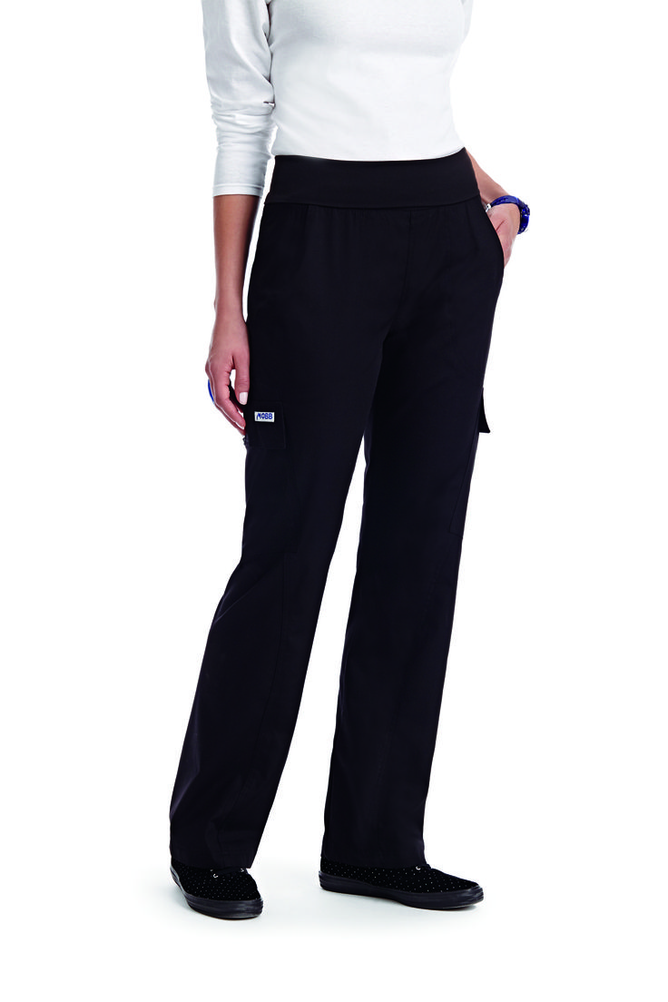 Fashionable and flattering, the Flexi Waist Scrub Pant provides the ultimate in all day comfort. This pant features side, back and cargo pockets in addition to its roll down waistband