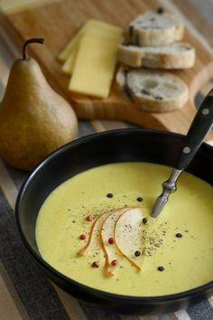 potage poires et poireaux Une fourchette une cuillère