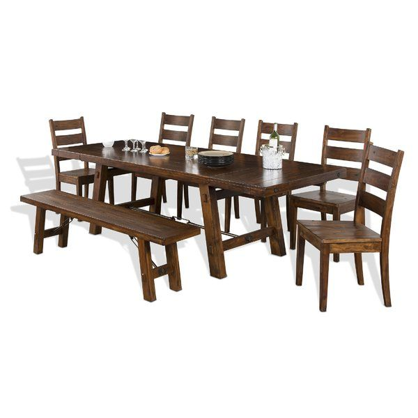 Hardin Extendable Solid Wood Dining Table Dining Table Solid