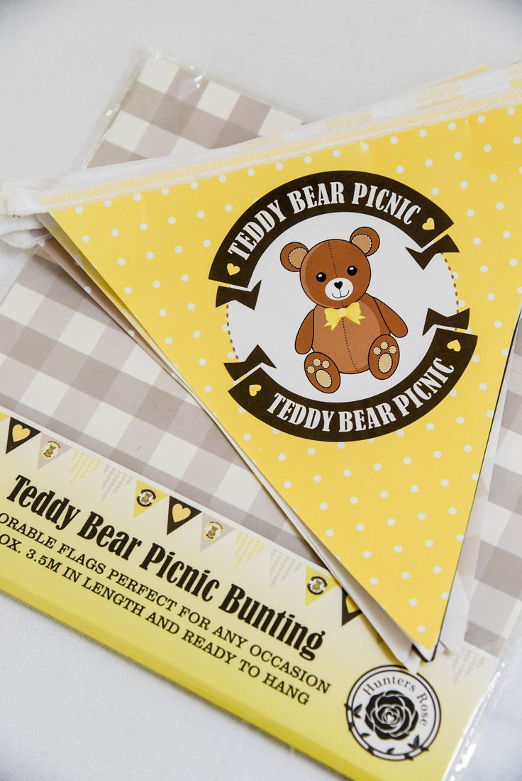 Teddy Bear Picnic paper bunting by Hunters Rose