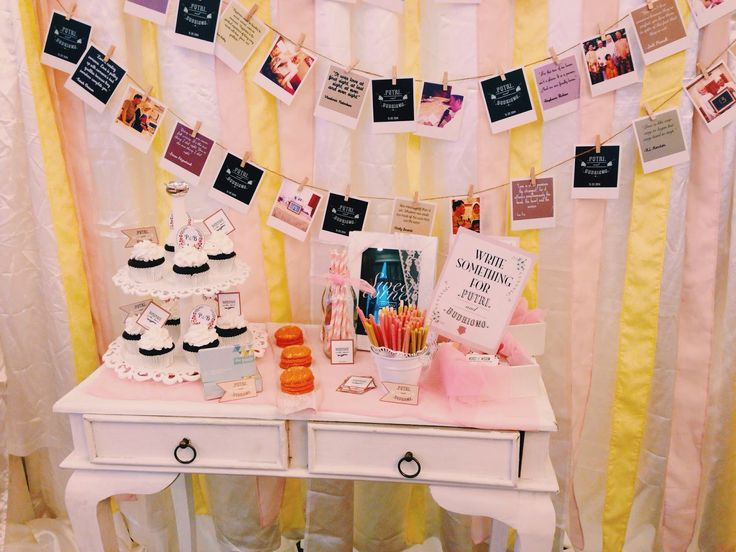 Sweets table decor. Where the snacks and memories meets