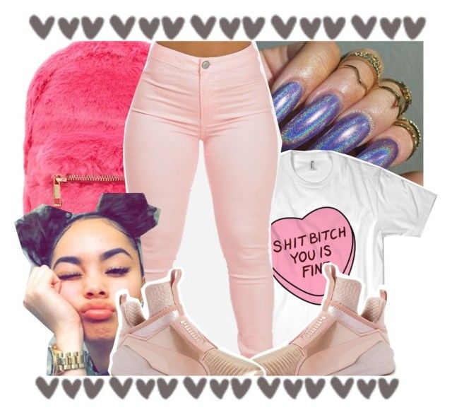 """🔥Tory Lanes x Sorry Not Sorry🔥"" by geazybxtch24 ❤ liked on Polyvore featuring beauty, Forever 21 and Puma"