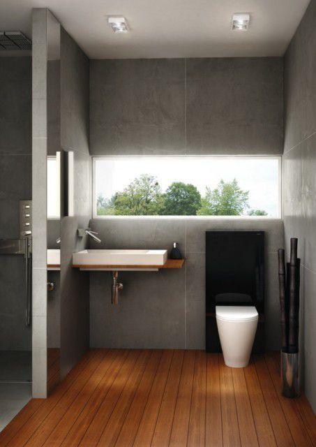mała łazienka drewniana podłoga - Google Search