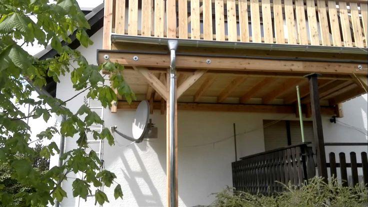 Holzbalkon aus Douglasie Neubau - Holzbalkone sanieren (+Playlist)
