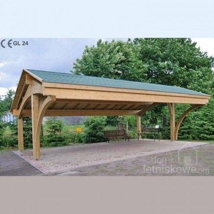 Drewniana trójstanowiskowa wiata garażowa (Carport) Revelatio III