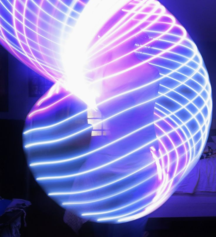"Ultra Purple and White LED Hoop.  LED Dance Hoops by Moons of Noor. HDPE or PolyPro, 3/4"" or 5/8 by MoonsOfNoor on Etsy"