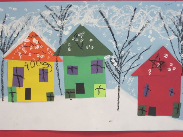 kindergarten snow art | These are very cute! Plus, It is also a great math integration on ...