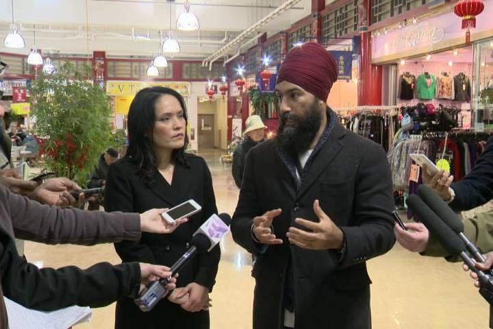NDP Leader Jagmeet Singh, Rachel Notley take opposing sides on Trans Mountain