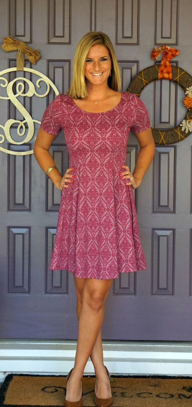 Everly Peter Dress... A fit and flare dress with sleeves! Love that I wouldn't have to cover it up.