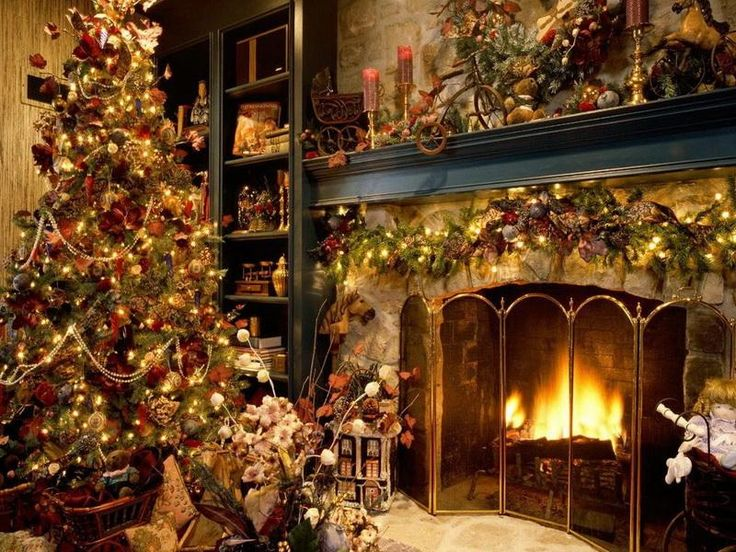17 best decorating christmas fireplace mantels images on Pinterest     Christmas Tree and Interior Living Room Holiday Decoration Ideas Best  Christmas is always creative  Cutting down trees to put in the living room  of your