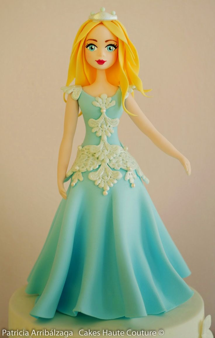 Sugar princess cake / Tarta con princesa de azúcar